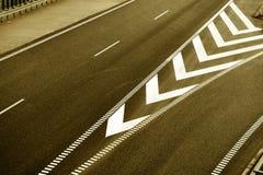 Bästa sikt av huvudväggränder Gammalmodig brun stil Arkivfoto