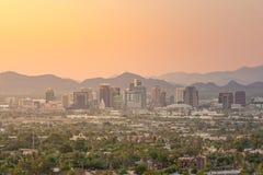 Bästa sikt av i stadens centrum Phoenix Arizona Arkivbilder
