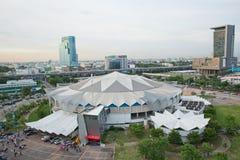 Bästa sikt av inomhus stadion Huamark Royaltyfri Foto