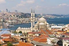Bästa sikt av Istanbul från tak Arkivfoto