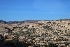 Bästa sikt av kullen arkivfoton