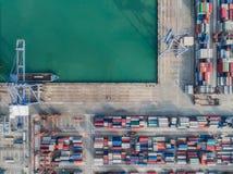 Bästa sikt av logistisk port arkivbild