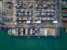 Bästa sikt av logistisk port fotografering för bildbyråer