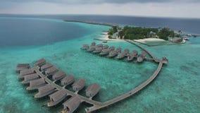Bästa sikt av Maldiverna stock video