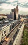 Bästa sikt av mitten av Kazan Hotell Kazan, Tatarstan royaltyfri bild