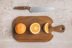 Bästa sikt av mogna apelsiner Fotografering för Bildbyråer