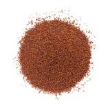 Bästa sikt av organisk liten brun senap Royaltyfria Foton
