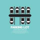 Bästa sikt av parkeringsplatsen Arkivfoto