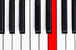 Bästa sikt av pianotangenter closen keys upp pianot nära frontal sikt Pianotangentbord med den selektiva fokusen Top beskådar sva vektor illustrationer