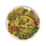 Bästa sikt av portionen av den lagade mat raviolit Arkivbilder
