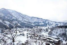 Bästa sikt av Shirakawago Arkivfoton
