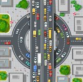 Bästa sikt av stadsöversikten stock illustrationer
