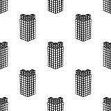 Bästa sikt av symbolen för byggnad 3d Beståndsdel av symbolen för byggnad 3d för mobila begrepps- och rengöringsdukapps Sömlös bä vektor illustrationer