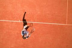 Bästa sikt av tennisspelaren arkivbild