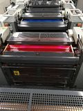 Bästa sikt av tryckpressen arkivbild