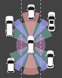 Bästa sikt för autonom bil Själv som kör medlet vektor illustrationer