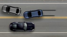 Bästa sikt för bilolycka, krasch för väggatatrafik royaltyfri illustrationer