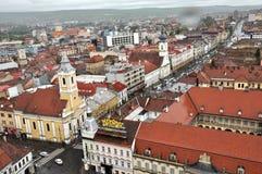 Bästa sikt för Cluj Napoca stad romania Royaltyfri Bild