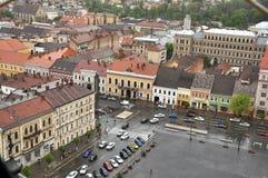 Bästa sikt för Cluj Napoca stad romania Arkivbilder