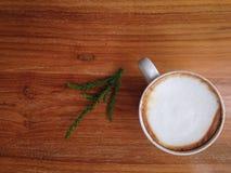 Bästa sikt för Coffeecup kopp Arkivfoto