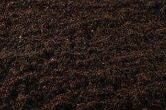 Bästa sikt för fertil trädgårds- jordtexturbakgrund Royaltyfria Foton