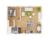 Bästa sikt för golvplan Arkivbilder