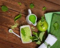 Bästa sikt för grön äpplebrunnsort Arkivbild