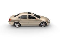 Bästa sikt för guld- affärsbil Arkivbilder