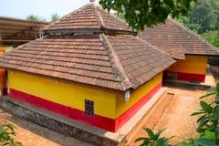 Bästa sikt för Harihareshwar tempel, Raigad område, Maharashtra arkivbild
