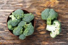 Bästa sikt för kålbroccoli Arkivfoton
