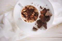Bästa sikt för kakao och för choklad Royaltyfri Fotografi