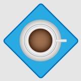Bästa sikt för morgonkaffe Arkivbilder