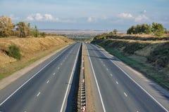 Bästa sikt för Motorway arkivfoto