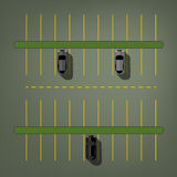 Bästa sikt för parkeringsplats Arkivfoton