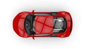 Bästa sikt för röd Supercar Arkivfoton