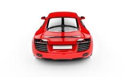 Bästa sikt för röd Supercarbaksida Royaltyfria Foton