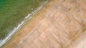 Bästa sikt för sand och för hav Arkivbilder
