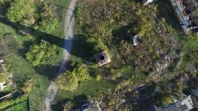 Bästa sikt för skyttequadrocopters stock video