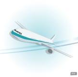 Bästa sikt för vektorflygplan Arkivbild