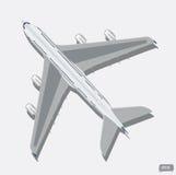 Bästa sikt för vektorflygplan Royaltyfri Foto