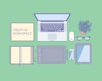 Bästa sikt för Workspace Arkivbild