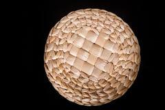Bästa sikt på den runda asken för litet handgjort hantverk royaltyfri fotografi