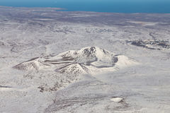 Bästa sikt, säsong för Island bergvinter Arkivbilder