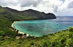 Bästa sikt till den tropiska ön Fotografering för Bildbyråer
