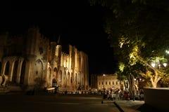 Bästa slott av påvarna Avignon Frankrike royaltyfri fotografi