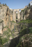 Bästa stad för berg av Ronda i sydliga Spanien royaltyfria foton