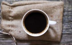 Bästa svart kaffe beskådar royaltyfri bild