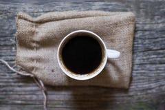 Bästa svart kaffe beskådar arkivfoton