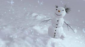 Bästa vinkel för snögubbe Arkivfoton