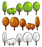 Bäume in den Jahreszeiten Stockfotografie